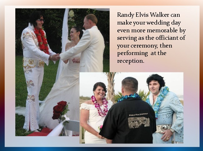 randy elvis walker wedding officiant