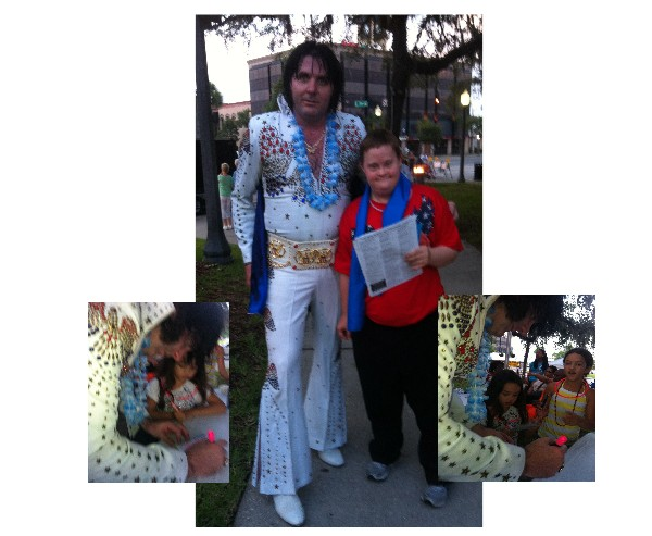 randy elvis walker with young fans